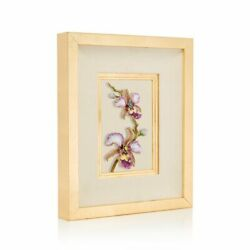 Jay Strongwater Julia Orchid Wall Art 14k Gold, Shw3314-237 New
