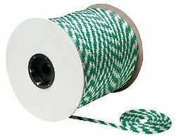 Seachoice 3/8 Inch X 500 Ft White And Green Solid Braid Mfp Rope Spool For Boats