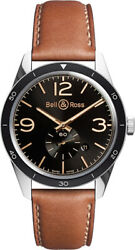 Brand New Bell And Ross Vintage Original 43mm Menand039s Watch Br-123-golden-heritage