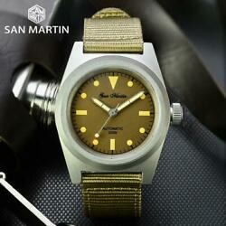 San Martin 38mm Vintage Military Enthusiasts Nh35 Automatic Mechanical Watches