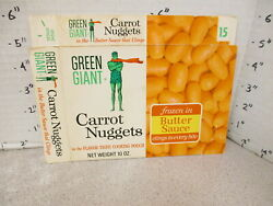 Green Giant 1960s Carrot Nuggets Vintage Frozen Vegetable Food Box 1