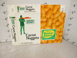 Green Giant 1960s Carrot Nuggets Vintage Frozen Vegetable Food Box 2