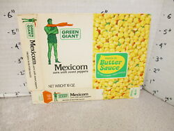 Green Giant 1960s Mexicorn Corn Peppers Vintage Frozen Vegetable Food Box