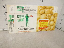 Green Giant 1960s Mushrooms Whole Vintage Frozen Vegetable Food 1 Box