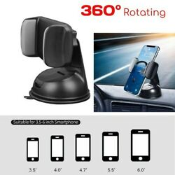 360anddeg In Car Mobile Phone Holder Dashboard Suction Cup Fits Home Mount Windscreen