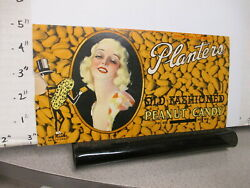 Candy Bar Wrapper 1930s Planters Old Fashioned Peanut 8 1/2 Oz Pinup Girl