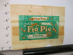 Candy Bar Wrapper 1940s Fig Pie Zion Industries Il 2 Oz 5 Cents Chocolate