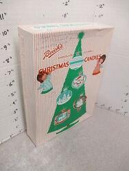 Beich's Chocolate Covered Christmas Candy Box 1960s Tree Ornament Angel 2 Ink