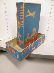 Candy Box Pilot's Pal Aviation Airplane Pilot 1930s Vintage Store Display