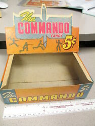 The Commando Candy Bar Wwii 1940s Infantry Soldier Store Display Box Airplane