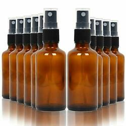 16 Pack Empty Amber Glass Spray Bottles, 2 Ounce Empty Refillable Containers