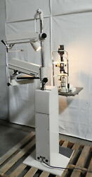 R176930 Nikon Slit Lamp Ns-1 On Reliance 7700 Ophthalmic Stand W/ Light