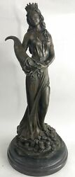 Extra Large Lady Fortuna Sculpture Of Luck Fate And Fortune Statue Figurine