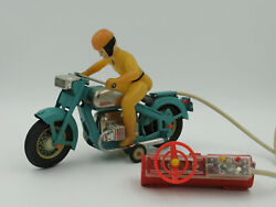 Vintage Metal Toy Model Motorcycle A Motorcyclist Rarity Ussr Antique