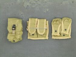 1/6 Scale Toy Desert Ops Rifleman - Tan Molle Pouch Set