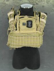 1/6 Scale Toydesert Ops Rifleman - Tan Molle Rrv And M.b.s.s Vest And Body Armor Set