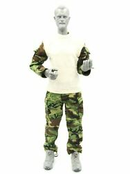 1/6 Scale Toy Us Army Sf Green Beret - Woodland Camo Uniform Set Type 2