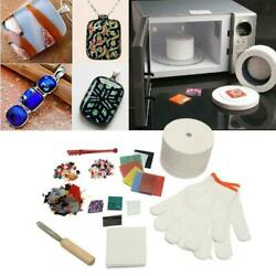 10pcs Diy Professional Microwave Kiln Kit Stained Glass Fusing Supplies Kit