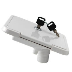 1pc Gravity Water Inlet Lockable W/ Keys For Boats Campers Trailer White