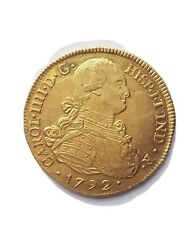 1792 8 Escudos Colombia Gold Popayan Gold Coin Pcgs Au58 Super Fast Shipping