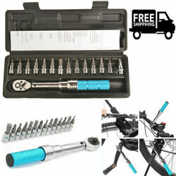 15pc Bike Preset Torque Wrench Bicycle Repair Adjustable Torque Wrench Kg Wrench
