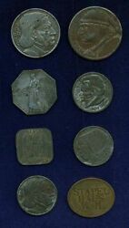 Germany 1917-21 Notgeld Group Lot Of 8 Assorted Coins