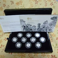 Queen's Beast 2021 1/4 Oz Silver Proof 10 Coin Set
