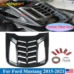 For 2015-2020 Ford Mustang Coupe Rear Window Scoop Louver Sun Shade Cover Carbon