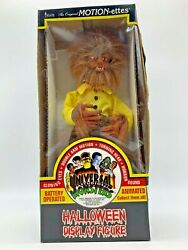 1995 Telco Motion-ettes Of Halloween Sound And Lights Wolfman Werewolf W/box 15