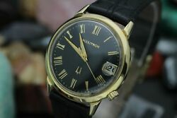 C. 1967 Accutron By Bulova 214 Tuning Fork 18k Solid Yellow Gold Menand039s Watch