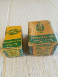 2 Vintage Greenlee No. 730 1 1/4 And 5/8 Round Radio Chassis Punch With Boxes