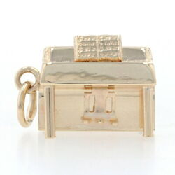 Yellow Gold Upright Piano Charm - 14k Music Pianist's Gift Etched