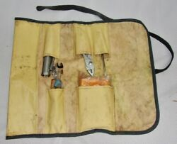 Rare Vintage 1970s Toyota Motor Auto Tool Kit In Original Roll Made-in-japan
