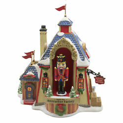 Department 56 House North Pole Nutcracker Factory Rotate Animated 6007611