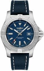 Breitling Avenger Automatic 43 Blue Dial Steel Menand039s Watch A17318101c1x2