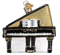 Old World Christmas Baby Grand Piano Ornament 38050 Free Box Music Instrument
