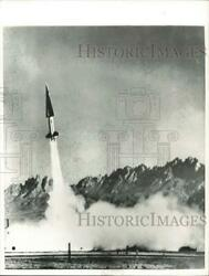 1957 Press Photo Nike Hercules Missile Being Launched - Lry01997