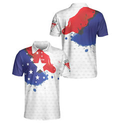 Grunge Style American Flag Polo Shirt Gift For Men On New Item