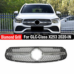 For Mercedes-benz Glc-class X253 Diamond Style 2020-in Front Bumper Grill Grille