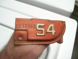 Vintage 1954 California License Plate Tab Auto Car Tag Original Chevy Ford Olds