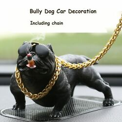 Cool Bully Dogs Car Dashboard Decor Figurines Ornaments Brown Gift Decoration