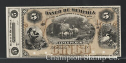 Chile Banknote Proof Catalog S297 Face And Back