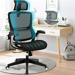 Ergonomic Office Chairs, Mesh Desk Chair With Adjustable Headrest And Seat Heigh