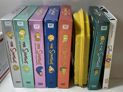 The Simpsons Complete Seasons 1 2 3 4 5 6 8 Movie Dvd Lot Collector's Edition