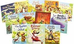 My First Bible Stories Collection -12 Books- By Fiona Moss Book The Fast Free