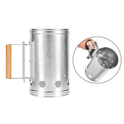 Chimney Starter Bbq Grill Rapid Coal Fire Lighter Stove Camping Cooking Tool