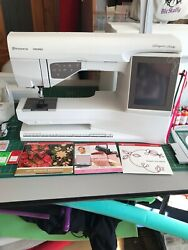 Ruby Husqvarna Viking Embroidery Sewing Machine With Extras Zig Zag Walking Foot