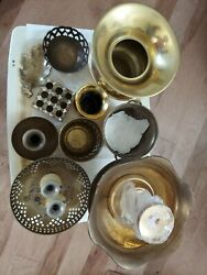 Brass Collection Candle Holders Decoratives Mini Cauldron Cups Vase