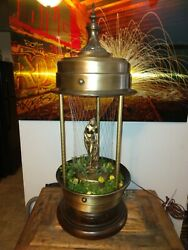 Vintage Antique 1960s Mineral Oil Rain Lamp Rare Nude Goddess By Mjw Inc