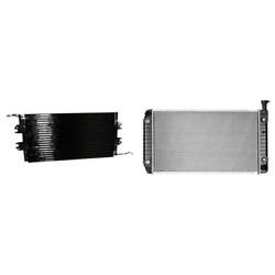A/c Condenser And Radiator Kit For Chevy Express 1500 Express 2500 Express 3500